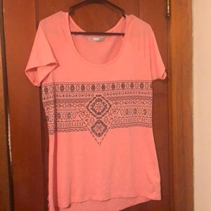 Maurices pink shirt with detail
